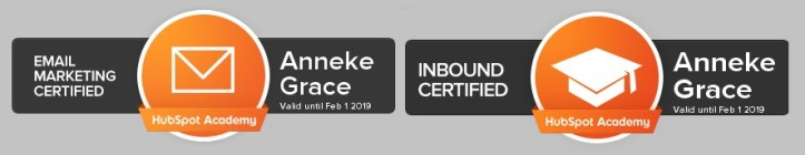 Hubspot certification for email marketing and inbound marketing