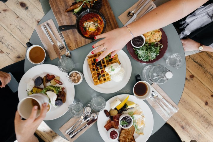 Breakfast, anyone? Meeting friends for breakfast will kickstart your freelance day and stop you from avoiding social contact.