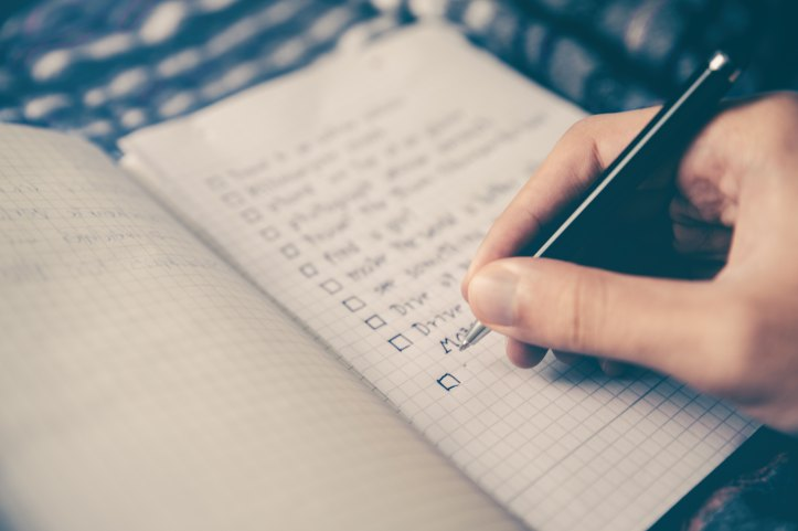 Challenge your productivity levels with a daily Must Do and Must Not Do list